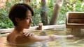溫泉中女露天浴溫泉旅館旅行形象 46385829