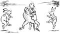 鳥獣戯画の相撲-ループ仕様 46397354