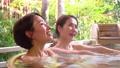 溫泉親子母親和女兒露天浴旅行圖像 46416838