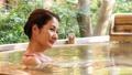 露天浴高級女子溫泉旅遊形象 46425128