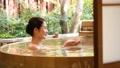 露天浴高級女子溫泉旅遊形象 46425129