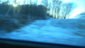 FullHD Point of view from the window of a passenger train. The deserted winter forest moves outside 46481923