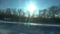 FullHD Point of view from the window of a passenger train. The deserted winter forest moves outside 46481930