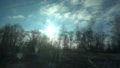 FullHD Point of view from the window of a passenger train. The deserted winter forest moves outside 46481952