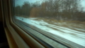 FullHD Point of view from the window of a passenger train. The rails moves outside the window 46481956