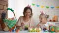 child, daughter, decorating 46491773