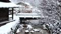 Snow scene of hot spring hotel 46499922