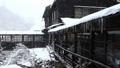 Snow scene of hot spring hotel 46499923