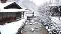 Snow scene of hot spring hotel 46499924