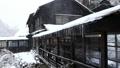 Snow scene of hot spring hotel 46499925