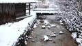 Snow scene of hot spring hotel 46499927