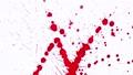 Red blots splashing on blank background 46506927