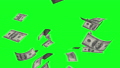 Money rain of dollar bills on the green background 46523734