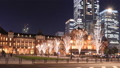 Tokyo Station Marunouchi light up 2018 timelapse zoom out 46553464