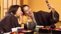 亲子母亲日式旅馆用餐温泉旅游形象 46584515