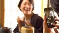 亲子母亲日式旅馆用餐温泉旅游形象 46584516