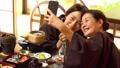 亲子母亲日式旅馆用餐温泉旅游形象 46584517