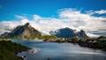 Timelapse Lofoten islands is an archipelago 46641876
