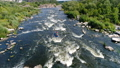 Two people kayaking on river 46674466