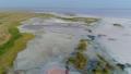 Aerial view shot of a frozen seashore 46674471
