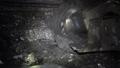 Coal miner produces coal. Coal mining in a real mine 46784786