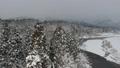 鳥瞰圖秋田冬天風景雪山森林河流程 46786458