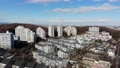 東京湧現的住宅區鳥瞰圖在郊區 46832475