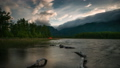 Timelapse of night camping at lake in mountains 46837017