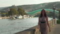 Luxury woman walking in sunny day in slow motion. Close up 46837018