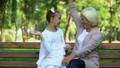 child, elderly, grandchild 46892884