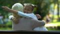 bench, elderly, embrace 46892922