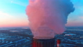 Smoke from the industrial pipes at city background 46909674
