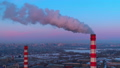 Air pollution from industrial plants aerial view 46909676