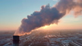 Industry pipes pollute the atmosphere with smoke 46909691