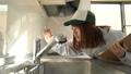 キッチンの水栓を点検する作業員 46927000