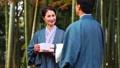 中間資深夫婦溫泉旅行yukata露天浴圖像 46991490