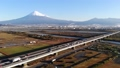 富士川 富士山 朝日 空撮 47039818