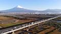 富士川 富士山 朝日 空撮 47039819