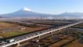 富士川 富士山 朝日 空撮 47039820
