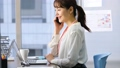 Business woman desk work office business image 47105604