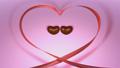 チョコレートハートのダンス ハートのリボン バレンタイン キマリ1秒静止 47124474