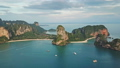 Aerial view of tropical turquoise lagoon, Thailand 47150357