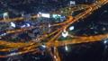 Aerial view on illuminated roads Bangkok at night 47150366