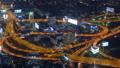 Aerial view on illuminated roads Bangkok at night 47150367
