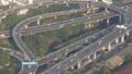 Aerial view traffic junction cross road in Bangkok 47150369
