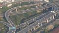 Aerial view traffic junction cross road in Bangkok 47150370
