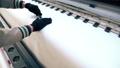 Manual material cutting at workshop video 47209184