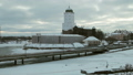 panorama of Vyborg castle and Castle island in the early winter morning 47224113