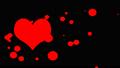 アルファチャンネル付き ハートアニメーション バレンタインデー背景 アニメーション CG 背景透明 47250530