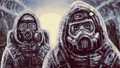 Two people in protective suits  47334694